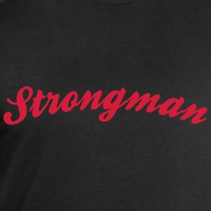 strongman cool curved logo - Men's Sweatshirt by Stanley & Stella