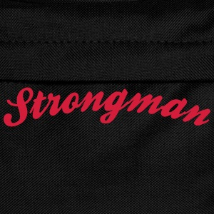 strongman cool curved logo - Kids' Backpack