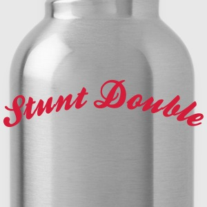 stunt double cool curved logo - Water Bottle