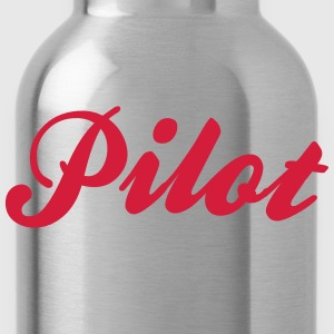 pilot cool curved logo - Water Bottle