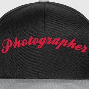 photographer cool curved logo - Snapback Cap