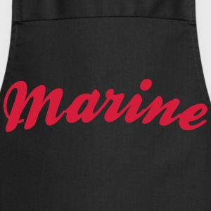 marine cool curved logo - Cooking Apron