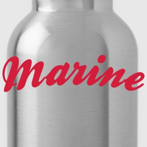 marine cool curved logo - Water Bottle