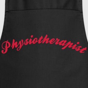 physiotherapist cool curved logo - Kochschürze