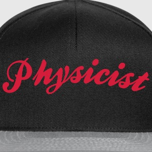 physicist cool curved logo - Snapback Cap