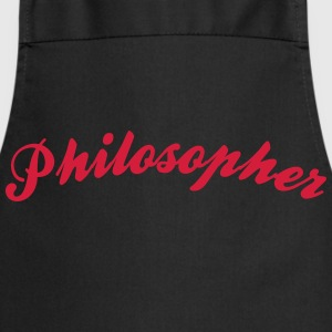 philosopher cool curved logo - Kochschürze