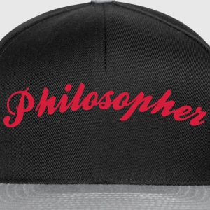 philosopher cool curved logo - Snapback Cap