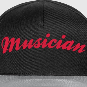 musician cool curved logo - Snapback Cap
