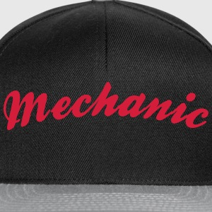 mechanic cool curved logo - Snapback Cap