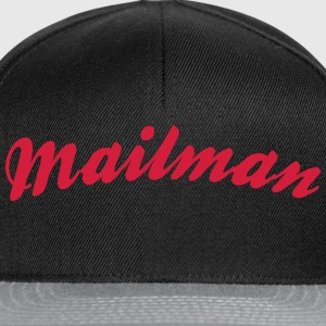 mailman cool curved logo - Snapback Cap