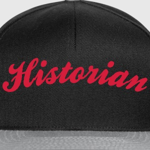historian cool curved logo - Snapback Cap