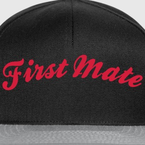 first mate cool curved logo - Snapback Cap