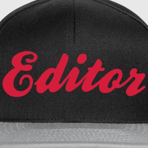 editor cool curved logo - Snapback Cap