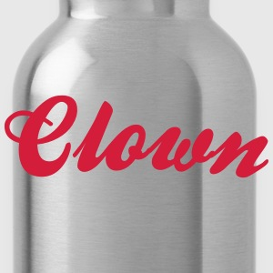 clown cool curved logo - Water Bottle