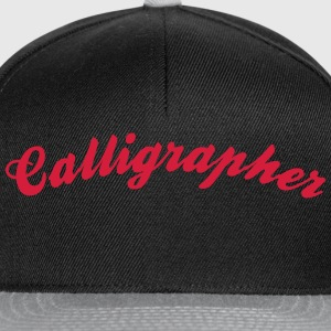 calligrapher cool curved logo - Snapback Cap