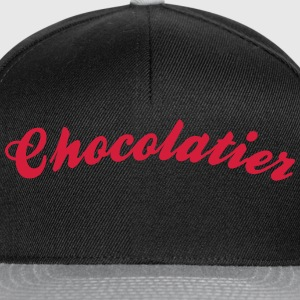 chocolatier cool curved logo - Snapback Cap
