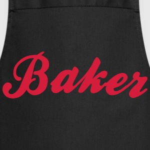 baker cool curved logo - Cooking Apron