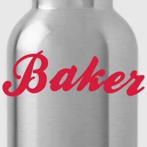 baker cool curved logo - Water Bottle