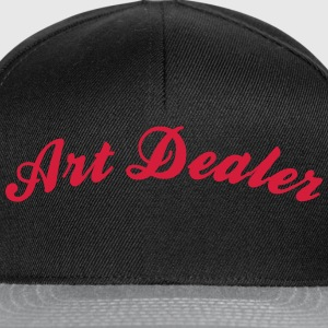 art dealer cool curved logo - Snapback Cap