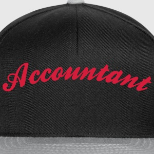accountant cool curved logo - Snapback Cap