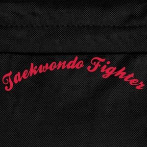 taekwondo fighter cool curved logo - Kids' Backpack
