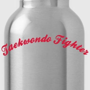 taekwondo fighter cool curved logo - Water Bottle