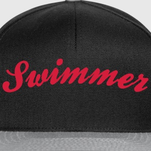 swimmer cool curved logo - Snapback Cap