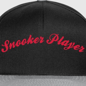 snooker player cool curved logo - Snapback Cap