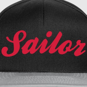 sailor cool curved logo - Snapback Cap
