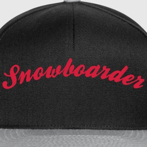 snowboarder cool curved logo - Snapback Cap