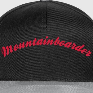 mountainboarder cool curved logo - Snapback Cap
