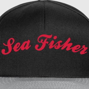 sea fisher cool curved logo - Snapback Cap