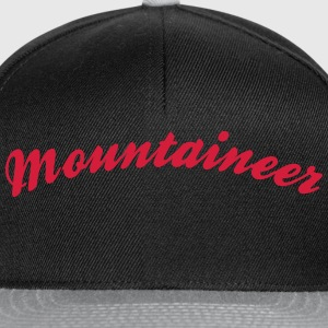 mountaineer cool curved logo - Snapback Cap
