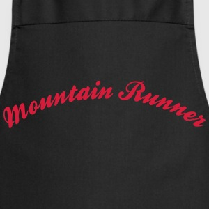 mountain runner cool curved logo - Kochschürze