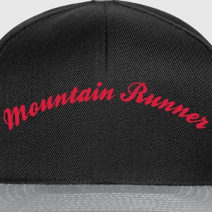 mountain runner cool curved logo - Snapback Cap