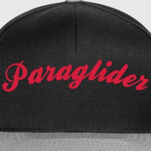paraglider cool curved logo - Snapback Cap