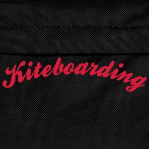 kiteboarding cool curved logo - Kids' Backpack