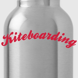 kiteboarding cool curved logo - Water Bottle