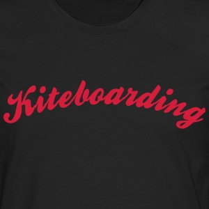 kiteboarding cool curved logo - Men's Premium Longsleeve Shirt