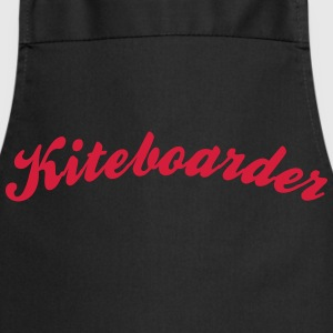 kiteboarder cool curved logo - Cooking Apron