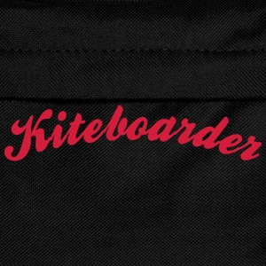 kiteboarder cool curved logo - Kids' Backpack