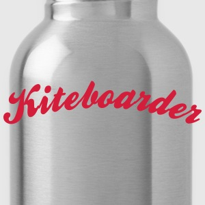 kiteboarder cool curved logo - Water Bottle
