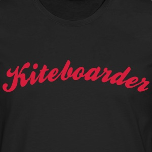 kiteboarder cool curved logo - Men's Premium Longsleeve Shirt