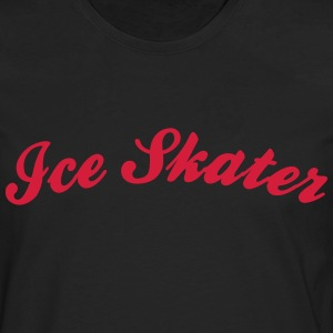 ice skater cool curved logo - Men's Premium Longsleeve Shirt