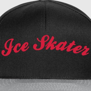 ice skater cool curved logo - Snapback Cap