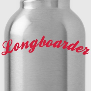 longboarder cool curved logo - Water Bottle