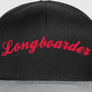 longboarder cool curved logo - Snapback Cap