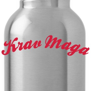 krav maga cool curved logo - Trinkflasche