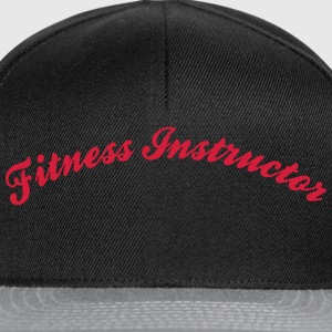 fitness instructor cool curved logo - Snapback Cap