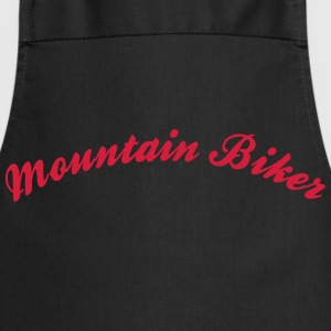 mountain biker cool curved logo - Kochschürze